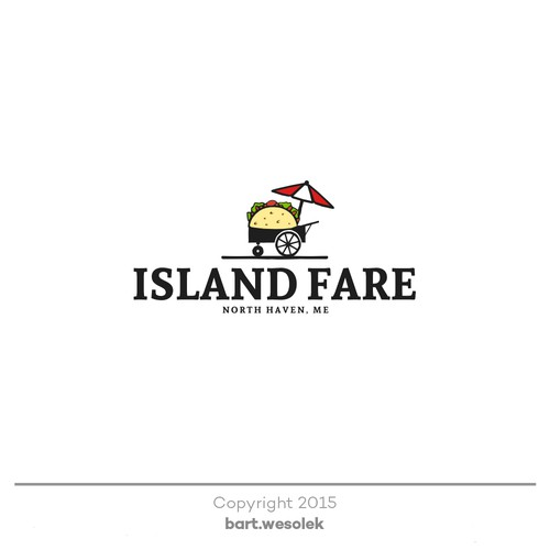 Cart design with the title 'Maine Island Food Cart needs a logo!'