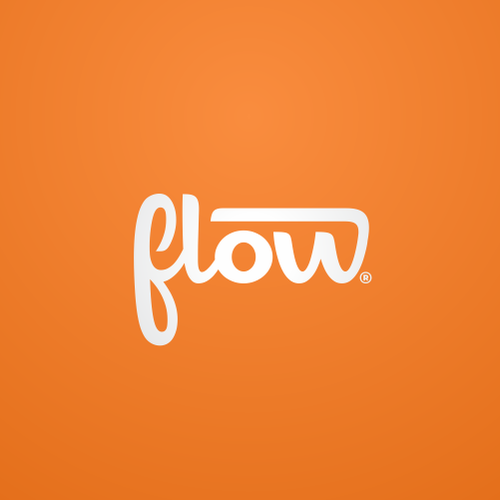 Icon logo with the title 'Logo for Flow'