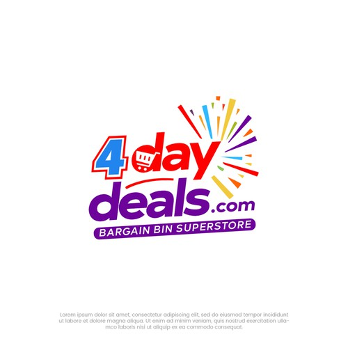 Shopping cart design with the title '4 Day Deals '