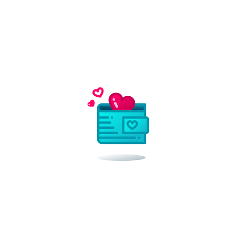 Pretty logo with the title 'Love Wallet Concept'