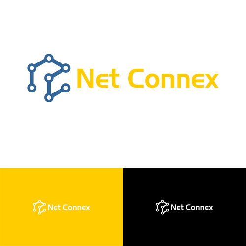 Connectivity logo with the title 'Logo design for an IT company.'