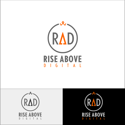 Rise design with the title 'Logo concept for RAD'