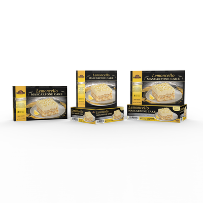 Lemoncello Mascarpone Cake box design for Taste It Presents (USA)