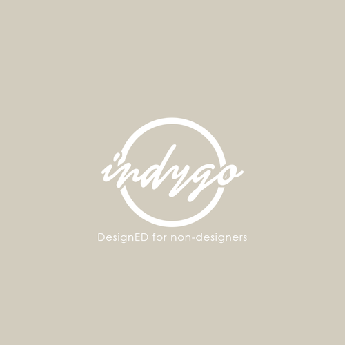 Indigo design with the title 'Modern and luxurious logo design for Indygo.'