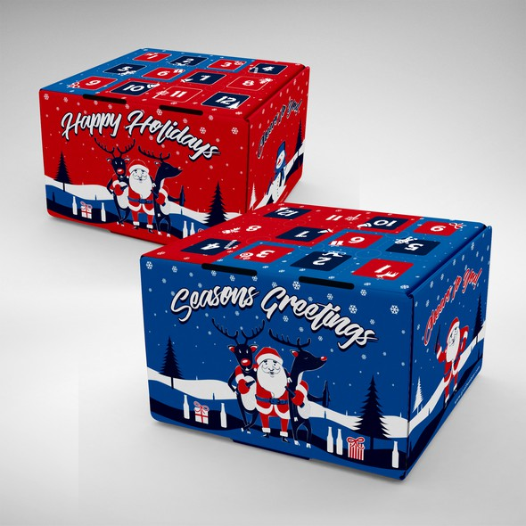 Creative packaging with the title 'Beer Advent Calendar'