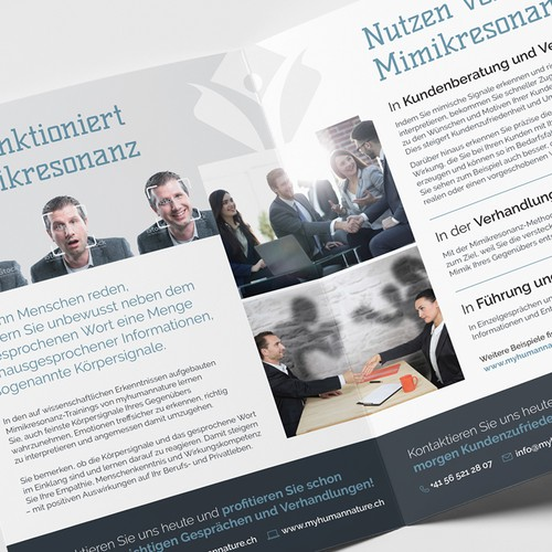 Outstanding design with the title 'Mimikrezonanz BiFold Brochure'