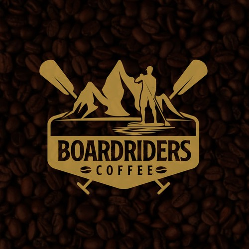 Boarding logo with the title 'Boardriders Coffee'
