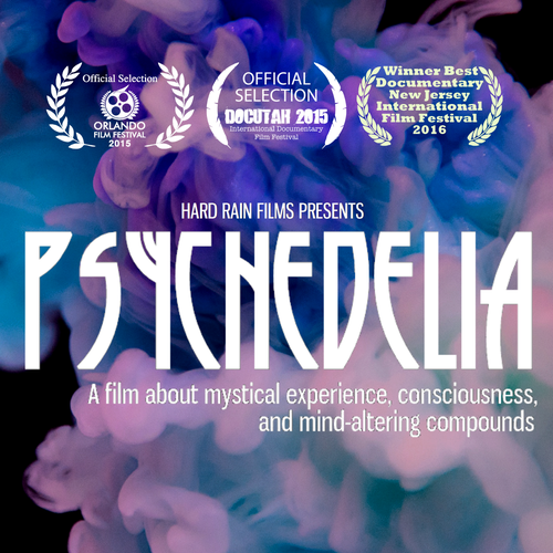 Intense design with the title 'Psychedelic poster for documentary'