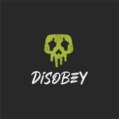 Skull logo with the title 'DISOBEY'