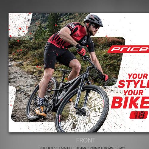 Price design with the title 'Price Bikes catalogue design'