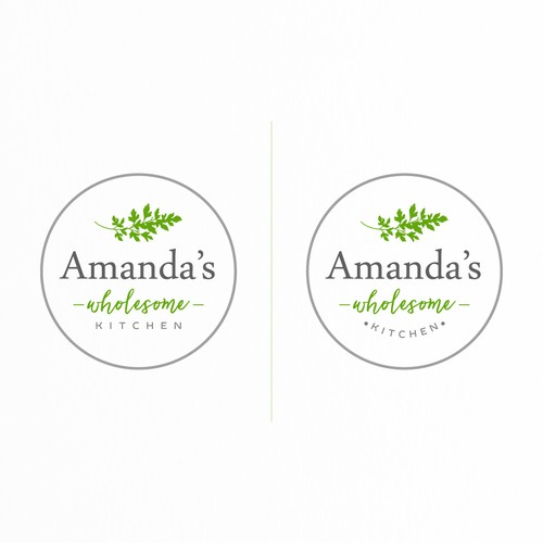Herbal logo with the title 'Logo for Amanda's Wholesome Kitchen'