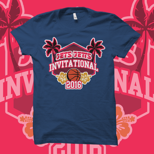 Tournament t-shirt with the title 'T-Shirt Design for Basketball Invitational Tournament'