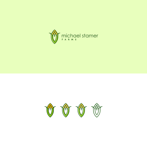Corn logo with the title 'Michael Stamer Farms Logos'