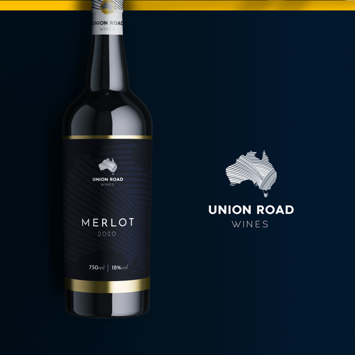 Grape label with the title 'Union Road Wines [Logo & Label]'