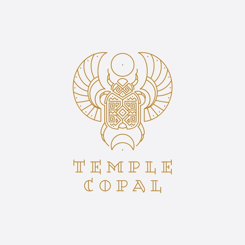 Mysterious design with the title 'Geometric scarab design for Temple Copal'