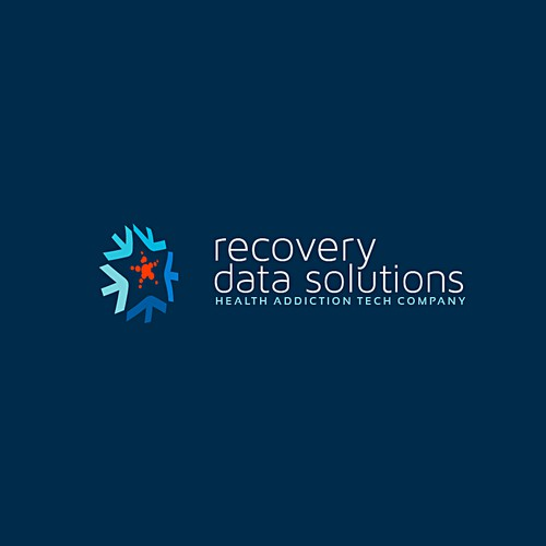 IT brand with the title 'Data Recovery Solution Logo'