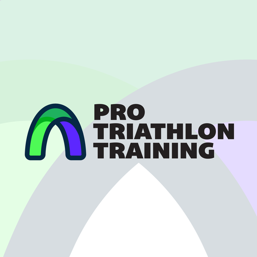 Athletic design with the title 'Unused modern Logo approach for Triathlon'