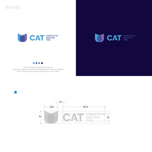 Drop design with the title 'CAT logo'