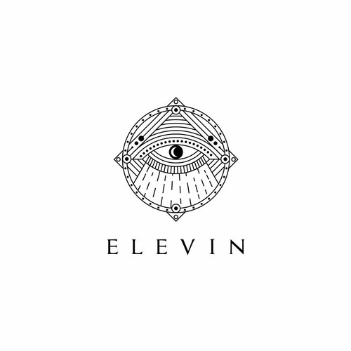 Mystical logo with the title 'elevin'