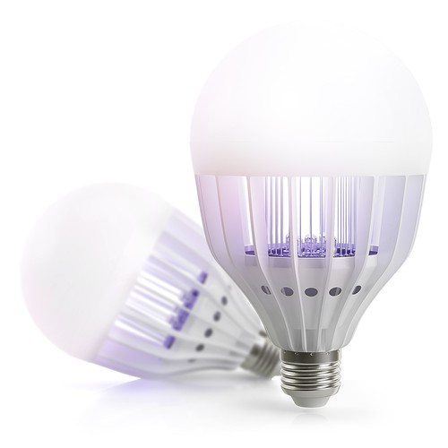 3D rendering design with the title 'Light Bulb Rendering'