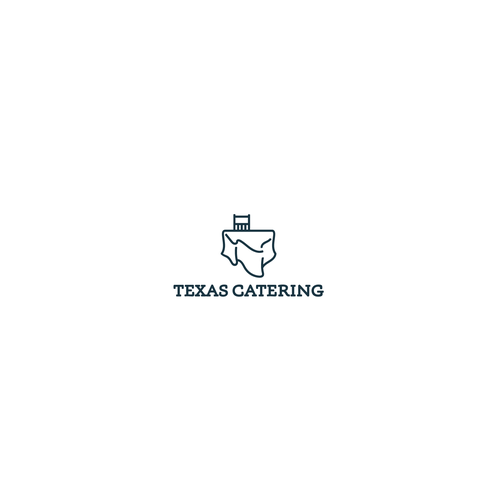 Table design with the title 'Texas Catering'