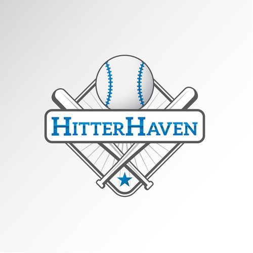 Baseball bat design with the title 'Hitter Haven - Company - Entry'
