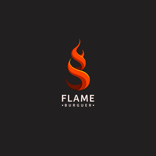 Hamburger logo with the title 'Flame Burguer Concept'