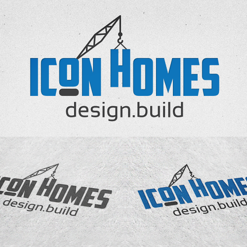Crane logo with the title 'New logo wanted for ICON Homes - Design, Build'