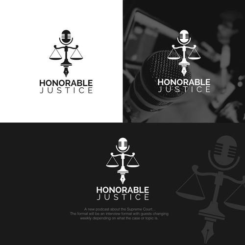 Justice logo with the title 'Honorable Justice'