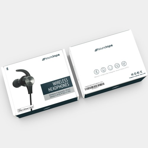 High-quality packaging with the title 'Bold Box for Wireless Headphones'