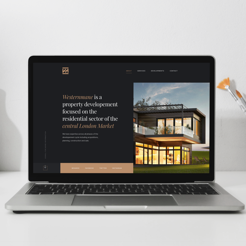 Sketch design with the title 'Architecture Homepage'