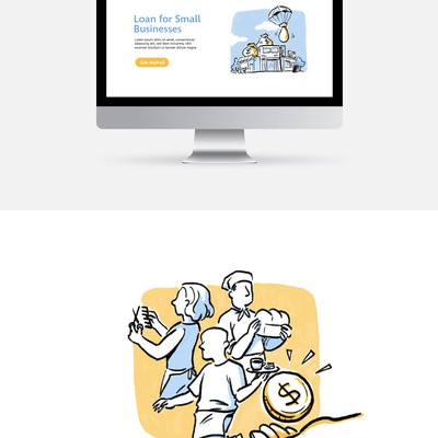 Website header illustrations