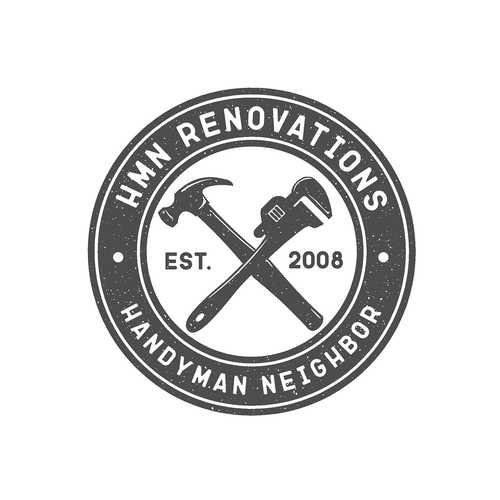 Handyman logo with the title 'Logo concept for HMN RENOVATIONS'