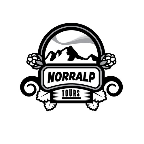 Trekking logo with the title 'Norralp tours logo'