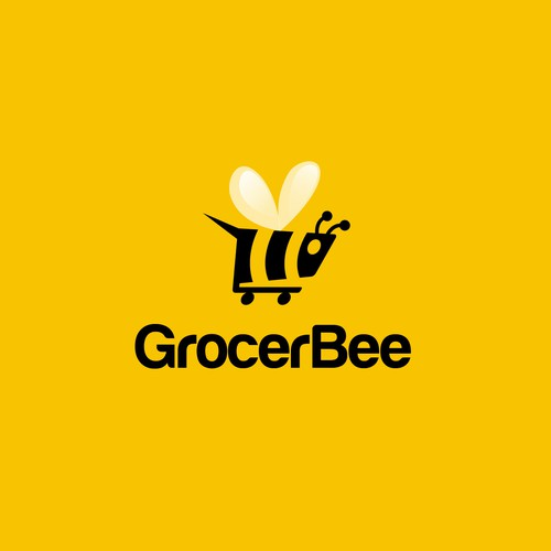Grocery logo with the title 'Grocer Bee'