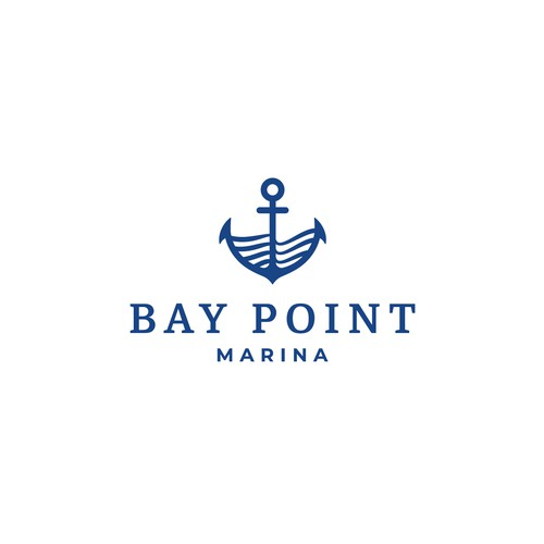 Sailboat design with the title 'Logo concept for a Marina in Panama'