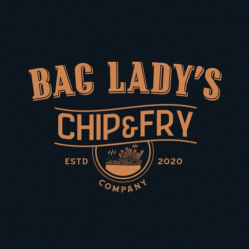 Paper bag logo with the title 'Bag Lady's'