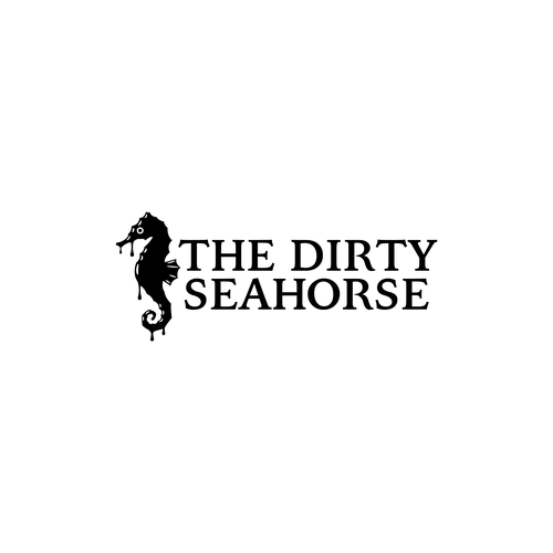 Seahorse design with the title 'Dirty little logo'