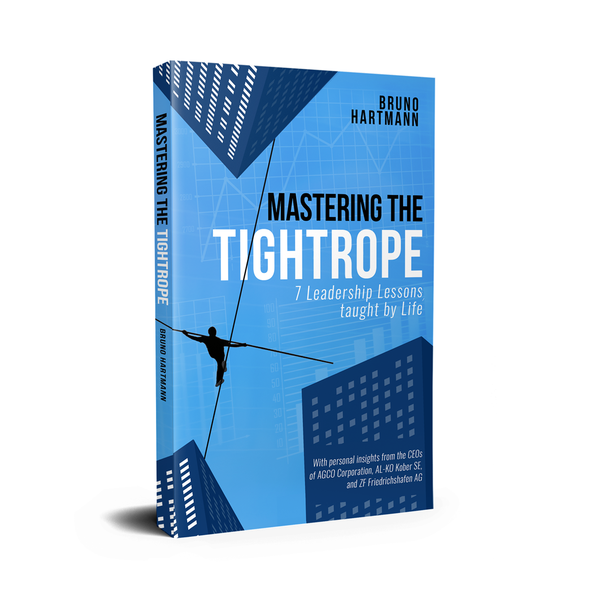 """Leadership book cover with the title 'Book Cover for """"Mastering The Tightrope""""'"""