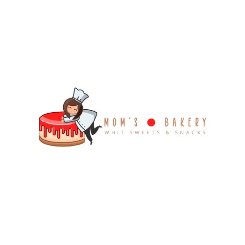 Cupcake logo with the title 'MOM´S BAKERY II'