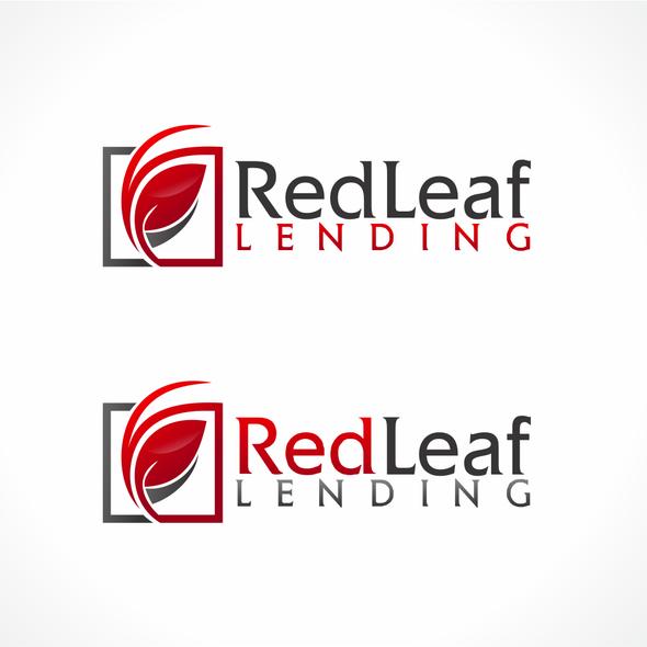 Bank design with the title 'Red Leaf Lending - loan website'
