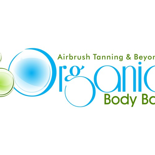 Tanning design with the title 'organic body bar'