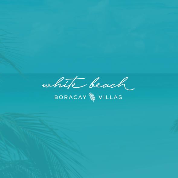 Sun and sea logo with the title 'Simple elegant logo'