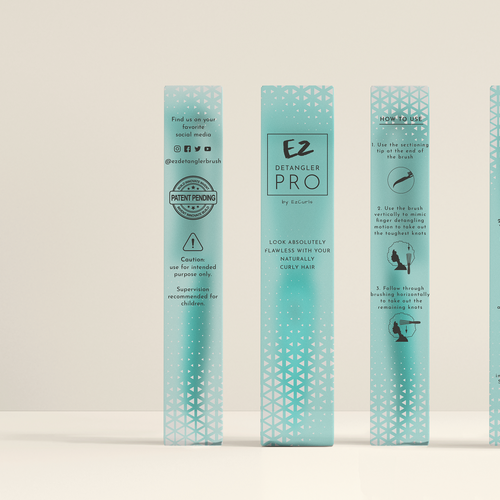 Chic packaging with the title 'Packaging vincitore in un contest.'
