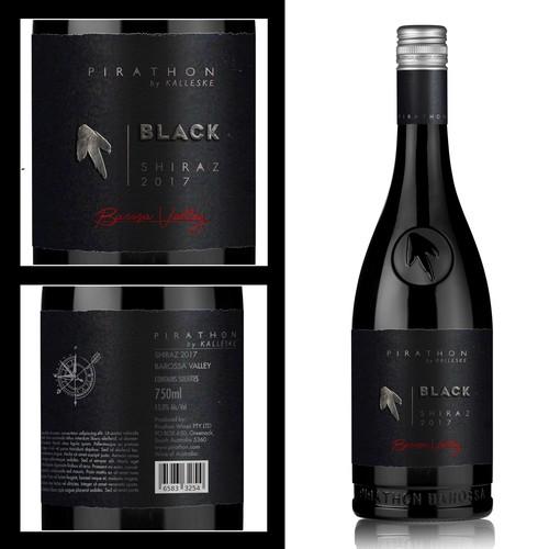 Vine design with the title 'Vine label'