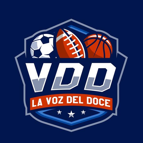 Soccer ball design with the title 'La Voz del Doce'