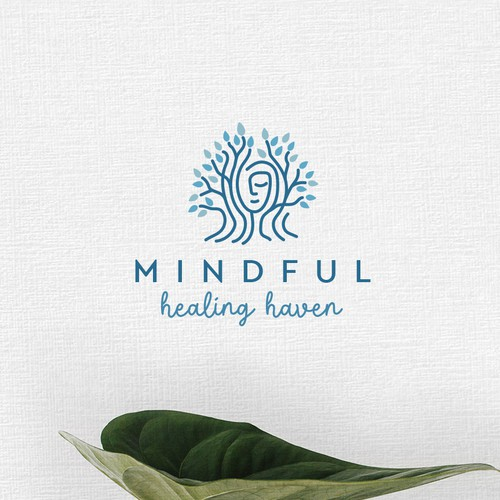 Family logo with the title 'Mindful healing Heaven '