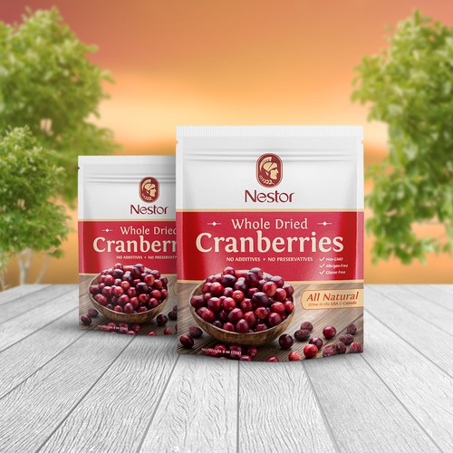 Yummy design with the title 'Premium dried berries package'