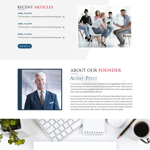Training website with the title 'Modern website for an Education and Leaning services company'