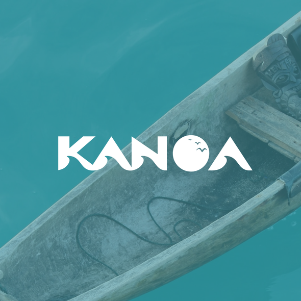 """Hawaii surf logo with the title 'Logo design for a Lifestyle Brand named KANOA """"the Free one""""'"""